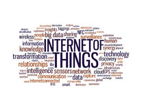 Internet of things word cloud Royalty Free Stock Photography