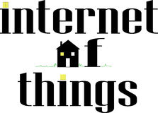 Internet of Things Word conceptual Illustration. Stock Photo