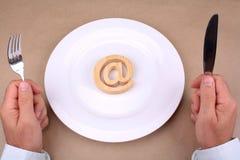 Internet to eat Stock Photo