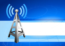 Internet tower with radio waves background icon Stock Images