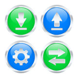 Internet traffic buttons. Set of network traffic buttons. Vector illustration Stock Photos