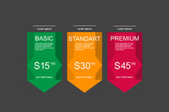 Internet traffic.Set offer tariffs. ui ux  banner for web app. set pricing table, order, box, button, list with plan for web Stock Photo