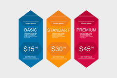 Internet traffic.Set offer tariffs. ui ux  banner for web app. set pricing table, order, box, button, list with plan for web Royalty Free Stock Photos