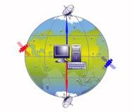 Internet, transmissions, ordinateur Image stock