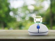Internet transportation service concept Stock Images