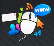 Internet trends background Stock Photos