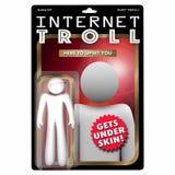 Internet Troll Action Figure Commenting Upset Anger 3d Illustrat. Ion Stock Image