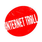 Internet Troll rubber stamp Stock Image