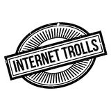 Internet Trolls rubber stamp Stock Photos
