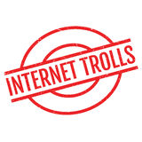 Internet Trolls rubber stamp Royalty Free Stock Image