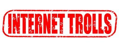 Internet trolls stamp on white background. Internet trolls stamp isolated on white background Royalty Free Stock Photos