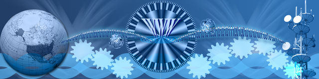 Internet in tutto il mondo ad alta velocità Fotografie Stock