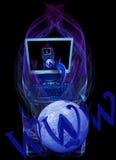 Internet in tutto il mondo e commercio elettronico Immagini Stock Libere da Diritti