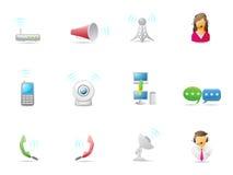 Internet- u. Kommunikationsikone Lizenzfreie Stockfotos