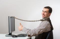 Internet- und Computersucht lizenzfreie stockbilder