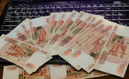 Internet und Geld stockfotografie