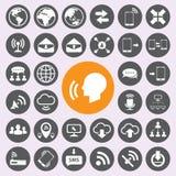 Internet- und Kommunikationsikonen eingestellt Vector/EPS10 Lizenzfreie Stockbilder