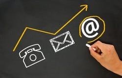 Internet und Konzept des elektronischen Geschäftsverkehrs Stockbilder