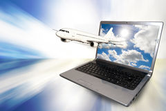 Internet und Reise Lizenzfreies Stockfoto