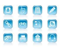 Internet- und Websiteikonen Lizenzfreies Stockfoto