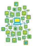 Internet-Universalitäts-Vernetzung Vektor Abbildung