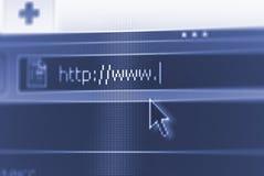 Internet url met wat exemplaarruimte royalty-vrije stock foto's