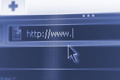 Internet url with some copy space. Business and technology: internet url with some copy space Royalty Free Stock Photos