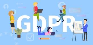 Internet User Personal Data Secure Vector Concept stock illustration