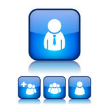Internet users buttons. Set over white Stock Image