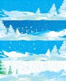 Internet van de winter banners vector illustratie