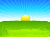 Internet van de zonsondergang achtergrond Stock Foto