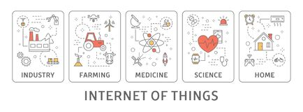 Internet van Dingen royalty-vrije illustratie