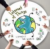 Internet van Dingen Stock Afbeelding