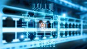 Internet van dingen IoT Het concept van de het Netwerktechnologie van Big Data Cloud Computing stock foto
