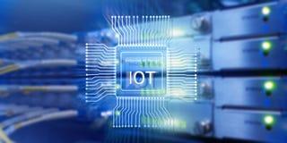 Internet van dingen IoT Het concept van de het Netwerktechnologie van Big Data Cloud Computing stock foto's