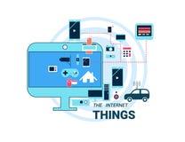 Internet van Dingen vectorillustratie Stock Foto