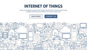 Internet van het Ontwerp van de Dingenbanner Royalty-vrije Stock Afbeeldingen