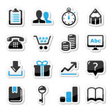 Internet van het Web geplaatste pictogrammen -   Stock Foto