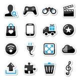Internet van het Web geplaatste pictogrammen -   Stock Foto's