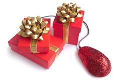 Internet van Kerstmis het winkelen Royalty-vrije Stock Foto's