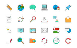 Internet vector colorful icons set Royalty Free Stock Image