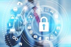 Internet-veiligheid royalty-vrije illustratie