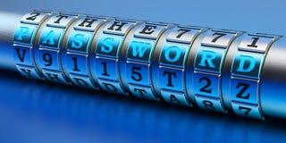 Internet-veiligheidstoegang en het concept van de netwerkgegevensbescherming Royalty-vrije Stock Afbeelding