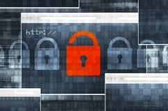 Internet-Verbindingsveiligheid Royalty-vrije Stock Fotografie