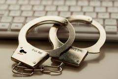 Internet-Verbrechen Stockbild