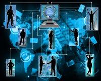 Internet vereinigt Menschlichkeit Lizenzfreies Stockfoto