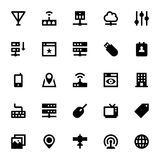 Internet-, Vernetzungs-und Kommunikations-Vektor-Ikonen 2 Stockfotografie