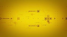 Internet vira el seguimiento del oro hacia el lado de babor ilustración del vector