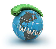 Internet virus against earth Royalty Free Stock Image