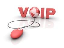 Internet VOIP - voix au-dessus d'IP Photo stock